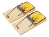 Rentokil RKLPSW107 - Wooden Mouse Traps Twin Pack