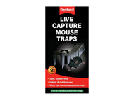 Rentokil RKLPTM80 - Live Capture Mouse Traps (Pack of 2)