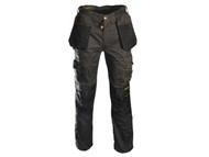 Roughneck Clothing RNKBGHT3233 - Black & Grey Holster Work Trouser Waist 32in Leg 33in