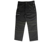 Roughneck Clothing RNKMZT3433 - Black Multi Zip Work Trouser Waist 34in Leg 33in