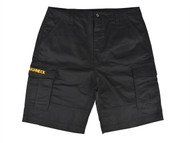 Roughneck Clothing RNKSHORT42 - Black Work Shorts Waist 42in