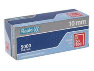 Rapid RPD5310B5000 - 53/10B 10mm Galvanised Staples Box 5000