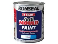 Ronseal RSLAMPWM25L - 6 Year Anti Mould Paint White Matt 2.5 Litre