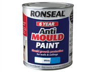 Ronseal RSLAMPWS750 - 6 Year Anti Mould Paint White Silk 750ml