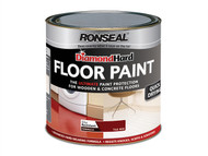 Ronseal RSLDHFPWH25L - Diamond Hard Floor Paint White 2.5 Litre