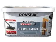 Ronseal RSLDHPFFPS25 - Diamond Hard Perfect Finish Floor Paint Slate 2.5 Litre