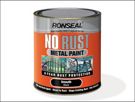 Ronseal RSLNRSMSI250 - No Rust Metal Paint Smooth Silver 250ml