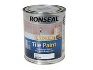 Ronseal RSLTPWS750 - One Coat Tile Paint White Satin 750ml