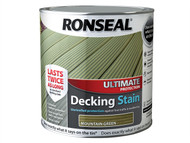 Ronseal RSLUDSMG25L - Ultimate Protection Decking Stain Mountain Green 2.5 Litre