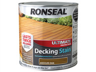 Ronseal RSLUDSMO25L - Ultimate Protection Decking Stain Medium Oak 2.5 Litre