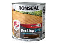 Ronseal RSLUDSW25L - Ultimate Protection Decking Stain Walnut 2.5 Litre