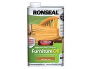 Ronseal RSLUHWGFOO1L - Ultimate Protection Hardwood Garden Furniture Oil Natural Oak 1 Litre