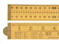 R.S.T. RST073 - Wood 4 Fold Rule 1m / 39in (Loose)