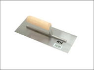 R.S.T. RST124C - Plasterers Finishing Trowel Straight Wooden Handle 11in x 4.1/2in