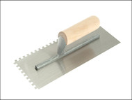 R.S.T. RST153DS - Notched Trowel 6mm Square Notches Wooden Handle 11in x 4.1/2in