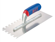 R.S.T. RST8002ST - Notched Trowel Square 6 x 6mm Soft Grip Handle 11in x 4.1/2in