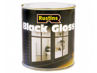 Rustins RUSBG1L - Gloss Paint Black 1 Litre