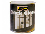 Rustins RUSBG500 - Gloss Paint Black 500ml