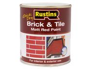 Rustins RUSBTPMR500Q - Quick Dry Brick & Tile Paint Matt Red 500ml