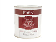 Rustins RUSCPW500 - Chalky Finish Paint Windsor White 500ml