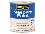 Rustins RUSMASPC500 - Quick Dry Masonry Paint Cream 500ml