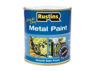 Rustins RUSMPSSBL500 - Metal Paint Smooth Satin Black 500ml