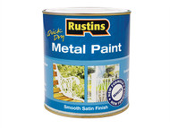 Rustins RUSMPSSWH1L - Metal Paint Smooth Satin White 1 Litre