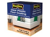 Rustins RUSPFCS1L - Clear Plastic Floor Coating Kit Satin 1 Litre