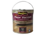 Rustins RUSQDCFVDO25 - Quick Dry Coloured Floor Varnish Dark Oak 2.5 Litre