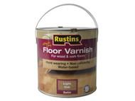 Rustins RUSQDCFVLO25 - Quick Dry Coloured Floor Varnish Light Oak 2.5 Litre