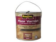Rustins RUSQDCFVMO25 - Quick Dry Coloured Floor Varnish Medium Oak 2.5 Litre
