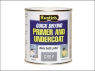 Rustins RUSQDPUG1L - Quick Dry Primer & Undercoat Grey 1 Litre