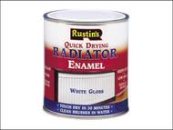 Rustins RUSQDREG250 - Quick Dry Radiator Enamel Paint Gloss White 250ml