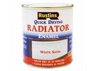 Rustins RUSQDRES250 - Quick Dry Radiator Enamel Paint Satin White 250ml