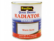Rustins RUSQDRES500 - Quick Dry Radiator Enamel Paint Satin White 500ml