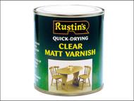 Rustins RUSQDVMC500 - Quick Dry Varnish Matt Clear 500ml