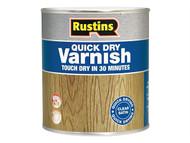 Rustins RUSQDVSO250 - Quick Dry Varnish Satin Oak 250ml
