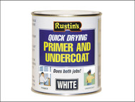 Rustins RUSQDWPUC1L - Quick Dry Primer & Undercoat White 1 Litre
