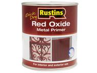 Rustins RUSROMP1LQ - Quick Dry Red Oxide Metal Primer 1 Litre
