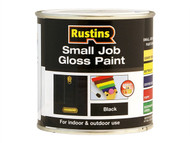 Rustins RUSSJPBLACK - Small Job Paint Gloss Black 250ml