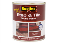 Rustins RUSSTP1LQ - Quick Dry Step & Tile Paint Gloss Red 1 Litre