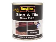 Rustins RUSSTPBK250Q - Quick Dry Step & Tile Paint Black 250ml