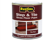 Rustins RUSSTPGR25L - Step & Tile Paint Gloss Red 2.5 Litre