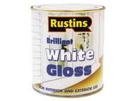 Rustins RUSWG1L - White Gloss Paint 1 Litre