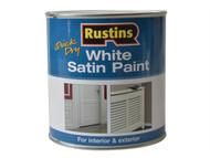 Rustins RUSWS1L - White Satin Paint 1 Litre
