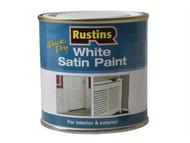 Rustins RUSWS250 - White Satin Paint 250ml