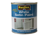 Rustins RUSWS500 - White Satin Paint 500ml