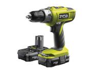 Ryobi RYBLLCDI1802 - LLCDI18022 ONE+ 18V Combi Hammer Drill 18 Volt 2 x 1.3Ah Li-Ion