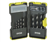 Ryobi RYBRAK08BP - RAK-08BP Bradpoint Drill Bit Set of 8