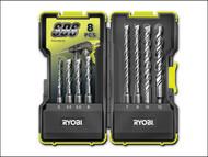 Ryobi RYBRAK08SDS - RAK-08SDS SDS Drill Bit Set of 8